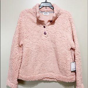 NEW Bearpaw Light Pink Sherpa Pullover